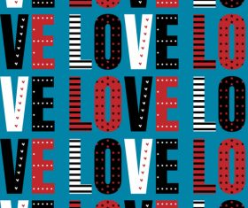 Valentines day love pattern seamless vectors 02