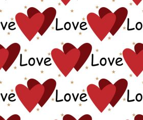 Valentines day love pattern seamless vectors 04