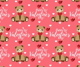 Valentines day love pattern seamless vectors 05