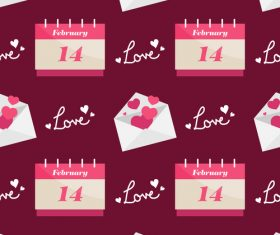 Valentines day love pattern seamless vectors 06