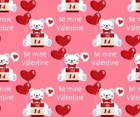 Valentines day love pattern seamless vectors 07