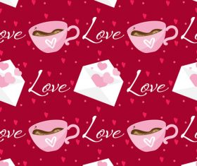 Valentines day love pattern seamless vectors 09