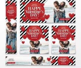 Valentines day sale card vector kit 01