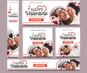 Valentines day sale card vector kit 03