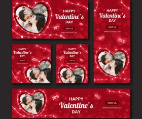Valentines day sale card vector kit 06