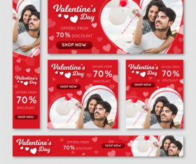 Valentines day sale card vector kit 07