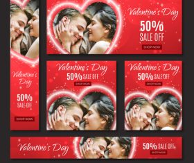 Valentines day sale card vector kit 08