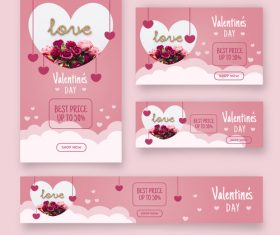 Valentines day sale card vector kit 11
