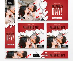 Valentines day sale card vector kit 13