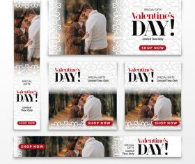 Valentines day sale card vector kit 14