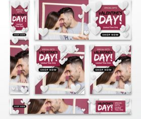 Valentines day sale card vector kit 22