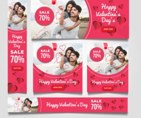 Valentines day sale card vector kit 18