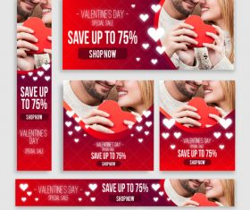 Valentines day sale card vector kit 20