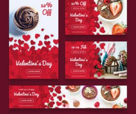 Valentines day sale card vector kit 16