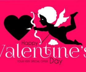 Valentines day special offer background vector