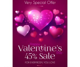 Valentines very special offern flyer template vector 02