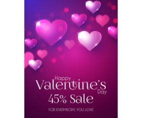 Valentines very special offern flyer template vector 03