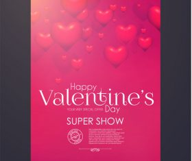 Valentines very special offern flyer template vector 05