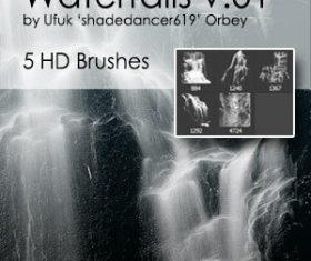 Waterfalls HD Photoshop brushes