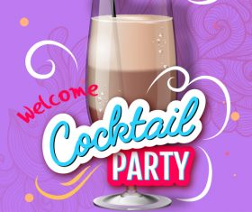 Welcome cocktail party flyer template vector 04