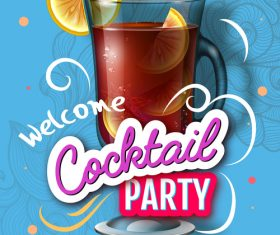 Welcome cocktail party flyer template vector 05