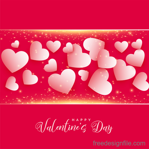 White heart with shining frame and valentines day background vector