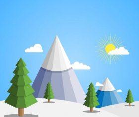 Winter natural landscape design vectors 02