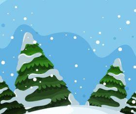 Winter natural landscape design vectors 04
