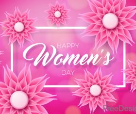 Women day background with beautiful flower vector