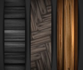 Wood parquet banners design vector 01