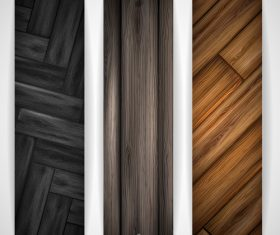 Wood parquet banners design vector 03