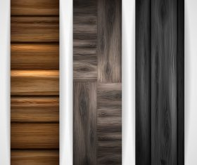 Wood parquet banners design vector 05