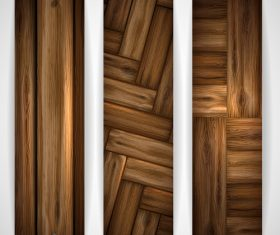 Wood parquet banners design vector 06