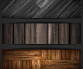 Wood parquet banners design vector 08