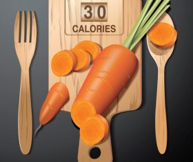 carrot calories vector