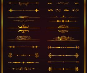 Creative vintage ornament borders vectors