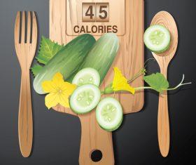 cucumber calories vector