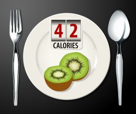 kiwi calories vector