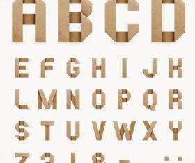 parchment alphabet font vector