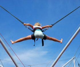 people tumble jump flip Stock Photo 03