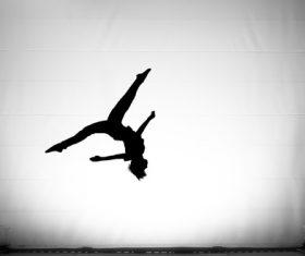 people tumble jump flip Stock Photo 04