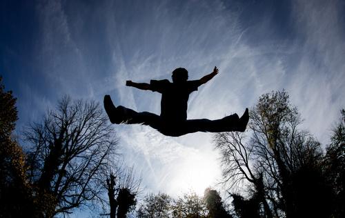 people tumble jump flip Stock Photo 07