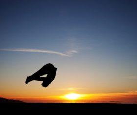 people tumble jump flip Stock Photo 08