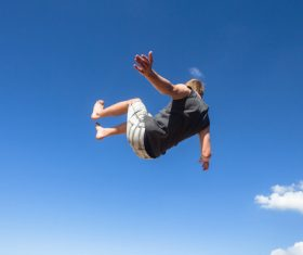 people tumble jump flip Stock Photo 10