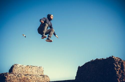 people tumble jump flip Stock Photo 12