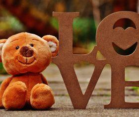 plush teddy bear Stock Photo 03