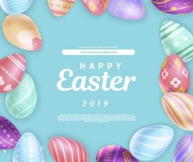 2019 easter background design vector