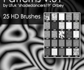 25 Kind pattern Photoshop Brushes