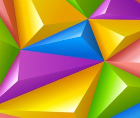 3D colors polygon shape background vector 01