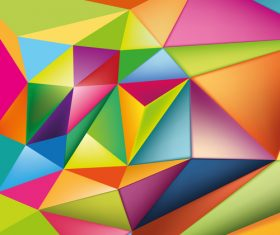 3D colors polygon shape background vector 02